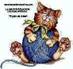 Logo de Lanas el gato sin botas
